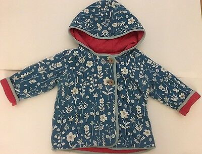 Mini Boden Gorgeous Reversible Padded Coat Jacket 12-18 Months