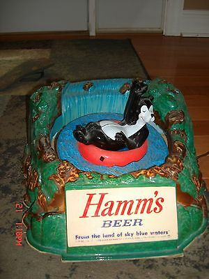 Rare Hamms Beer Tubing Bear Motion Hamm's Sign Lighted Sign