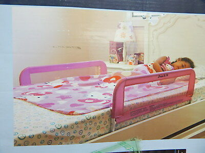 Dream On Me 443-DP Adjustable Mesh Bedrail Double Pack, Pink BOX DAMAGE