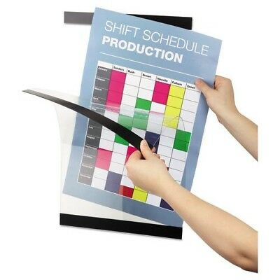 """Durable 4892 Duraframe 11 x 17"""" Self-Adhesive Magnetic Sign Holder 12 Pack"""