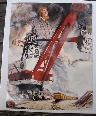 Vintage 14 x11 Color Photo Marion Power Shovel THE MOUNTAINEER Great Color
