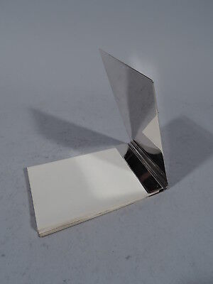 Tiffany Notepad Case - Traveling Portable Paper Pad - American Sterling Silver