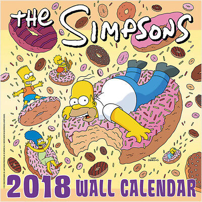 The Simpsons Animated TV Series 16 Month 2018 Wall Calendar Style 2 NEW SEALED