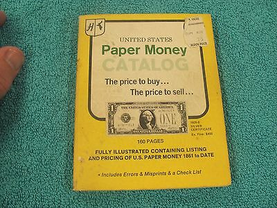Untied States Paper Money Catalog Kemm 1861 to 1968