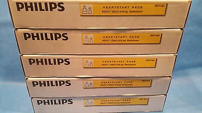 Philips Heartstart Pads Adult Child Radiolucent Lot of 50 X M3716A