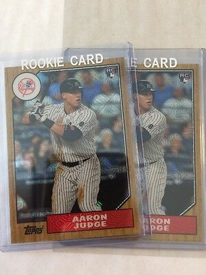 2017 Topps Silver Pack Aaron Judge Rookie Rc Chrome Lot Of 2