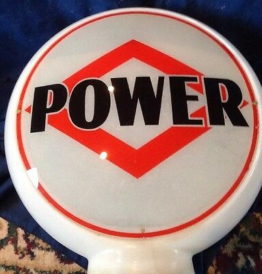 Vintage DX POWER Gas Pump Globe Original ALL Glass Advertising Oil GASOLINE Sign