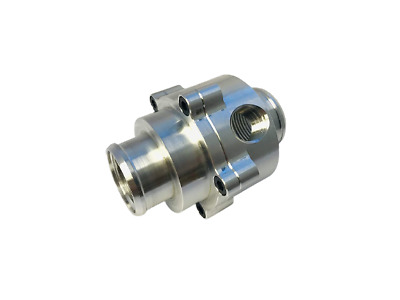 "Billet Inline Thermostat Housing with Bypass or sensor Port For 1-1/2"" Hose 1.5"""