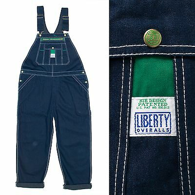 "Mens Vintage Usa Denim Dungarees Liberty Brand Rockabilly Bib & Brace 38"" - 40"""