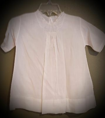 Vintage type handkerchief cotton infant dress with delicate embroidery and lace