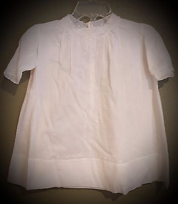 Vintage type handkerchief cotton infant/doll dress with delicate embroidery