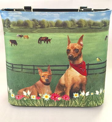 Min Pin Purse - Miniature Pinscher Handbag Pocketbook  Plus Matching Coin Purse