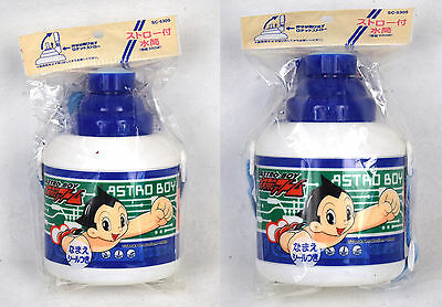 "Astro Boy Thermos Plastic Water Bottle 6"" Tezuka New Lot Of 2"