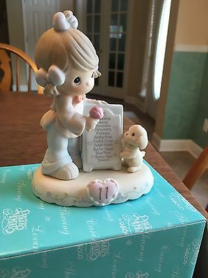 Precious Moments Growing in Grace Age 11 BRUNETTE Figurine (model #260924b)