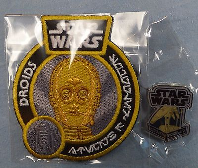 Smugglers Bounty C-3PO PATCH + BATTLE DROID PIN Smuggler's Star Wars BRAND NEW