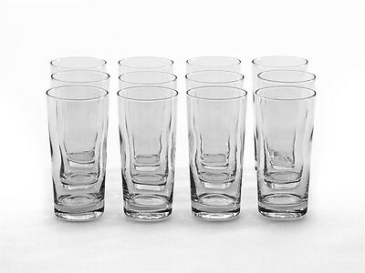 Set Of 12 High Ball Tumbler Glasses Drinking Water Beer Party Gift Cafe Bar