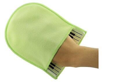 NEW super soft green cotton piano cleaning polishing mitten cloth free postage