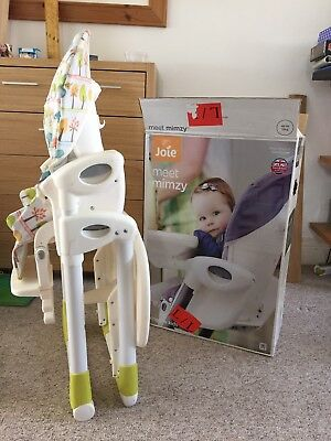 Joie Mimzy Highchair (not Snacker) Excellent Condition. 6-36 Months.