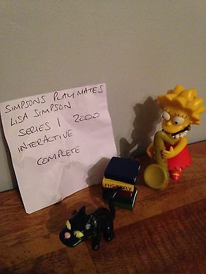 Simpsons Figures Playmates Interactive - Lisa Simpson and accessories