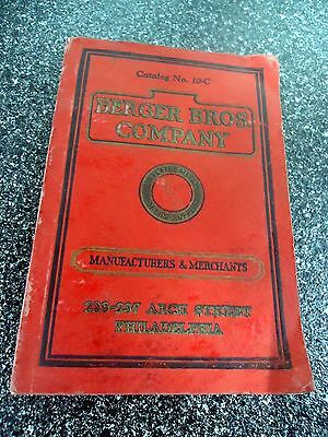 "1920's ""  BERGER BROTHERS TINNERS & ROOF SUPPLY  COATALOG, #10C"