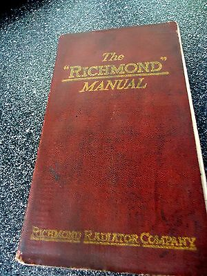 "1920 ""    The Richmond Radiator Manual .   Catalog"