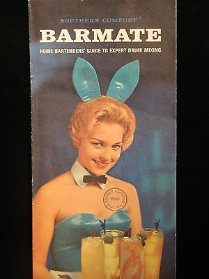 Southern Comfort BARMATE Home Batrtenders' Drink Guide Playboy Bunny Illustrated