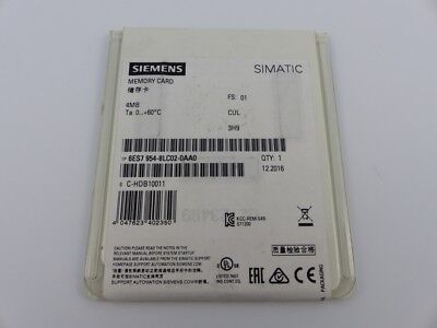 SIEMENS SIMATIC S7 Memory Card 4 MB MMC 6ES7 954-8LC02-0AA0 E-Stand: 1 (5050-Z)