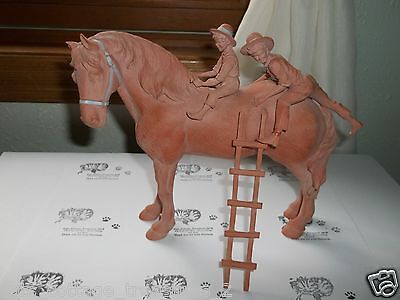 "Imhoff Homestead Life ""Easy Does it"" Children playing on horse Terra Cotta 1992"