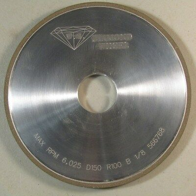 "Diamond Grinding/Dressing Wheel 6"" x 1/4"" x 1 1/4"" bore, NOS"