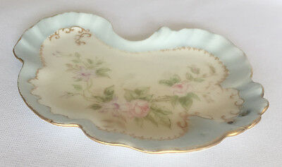 "Antique J. P. L. France Trinket Tray signed and dated 1897 ~ 7.75""L x 5.25""W"