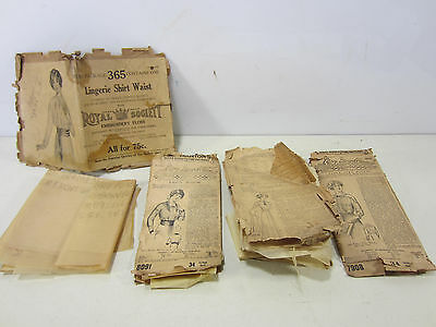 4 Early 1900's Ladies Blouse Patterns & Dress- Incomplete