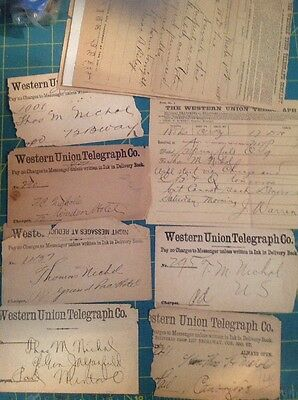 1800s Western Union Telegraph Co. 14- In Lot