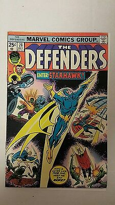 The Defenders #28 (Oct 1975, Marvel), VG/FN, First appearance of Starhawk