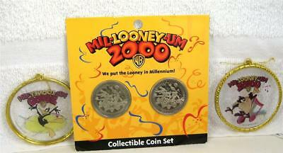 Looney Tunes MIL-LOONEY-UM 2000 COIN SET and ORNAMENTS