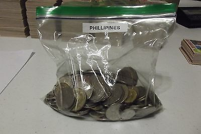 Phillipines Coins 2.0 lbs 156 coins  Nice lot including larger sized coins