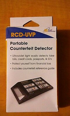 New! Royal Sovereign RCD-UVP Portable Ultraviolet Counterfeit Detector