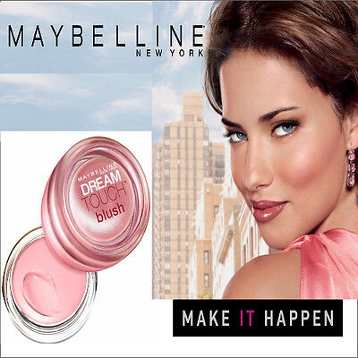 Maybelline Dream Touch Blush, Cream Blusher 02 Peach, 04 Pink, 07 Plum, 05 mouve