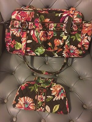 Vera Bradley English Rose Whitney Bag with matching Kiss n Snap Wallet