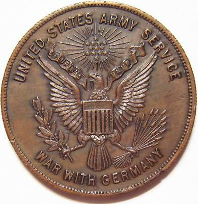 RARE U.S. ARMY SERVICE RECORD MILITARY Token Medal WAR WITH GERMANY WWI or WWII
