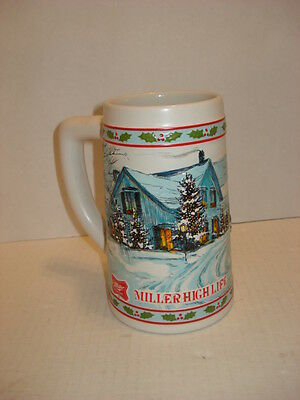 Vintage Miller High Life Limited Edition Beer Stein with Winter Scene