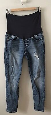Gap Maternity Jeans Size 28 Always Skinny Distressed Full Belly Band