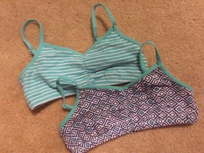 Old Navy Girls Size Small (6/7) 2-pack Patterned Cami Bras