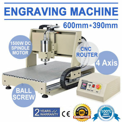 4 Axis 6040 1500W Spindle CNC Router Engraver Engraving Milling Machine 110V USA