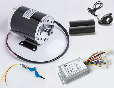 500 W 24 V DC electric motor kit w Reverse Control+Thumb Throttle+Key f Go-Kart