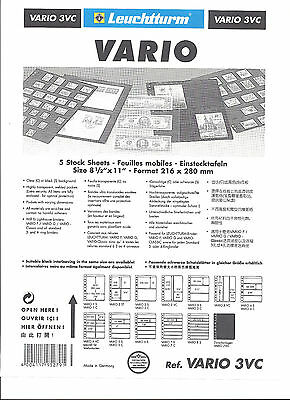 2 x LIGHTHOUSE VARIO 3 STRIP VERTICAL CLEAR COLLECTABLES STOCK SHEETS Vario 3VC