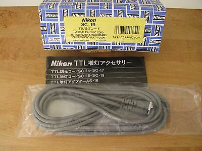 Nikon SC-19 TTL Multi Flash Sync Cord **MINT** New Old Stock