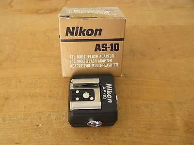 Nikon AS-10 TTL Multi Flash Adapter **MINT** New Old Stock