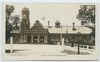1930's Rp Npu Postcard Railway Station Maryborough Vic L15