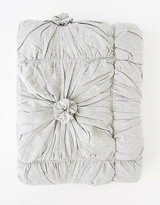Cot/Toddler/Baby/blanket quilt organic cotton grey  rosette lazybones play mat