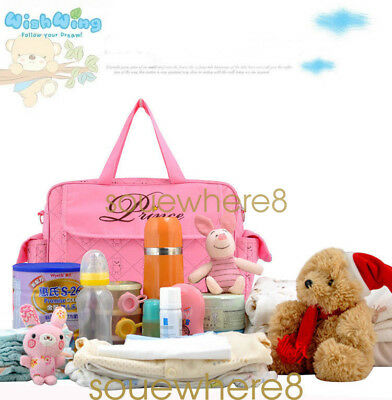 Nappy Diaper Baby Large Changing Bag Boy Girl  Hospital Bag Set Mother Bags